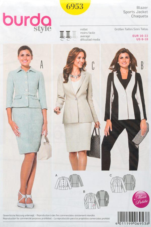 Patron de couture Burda 6953