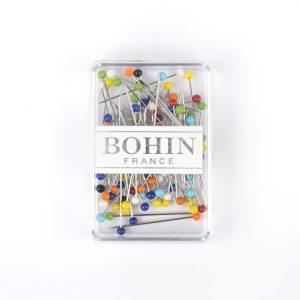 Boite de 80 épingles à tête en verre BOHIN
