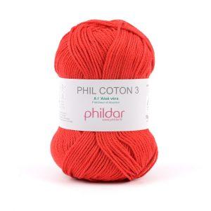 Fil 100% Coton naturel Phil Coton 3 Phildar