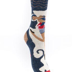 Chaussettes Berthe aux grands pieds baigneuse des années 30