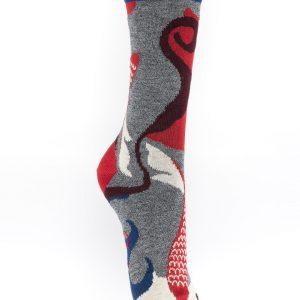 Chaussettes Berthe aux grands pieds poissons rouges