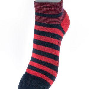 Socquettes de sport rayées Rouge et Marine Berthe aux grands pieds