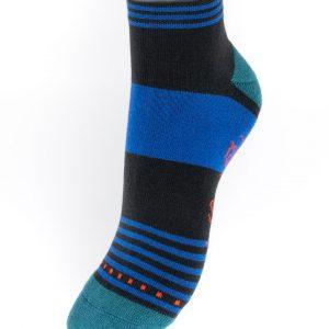 Socquettes de sport rayées Bleu et Marine Berthe aux grands pieds