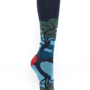 Chaussettes Berthe aux grands pieds motif arbre