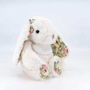 Doudou lapin Blanc Pretty Bukowski