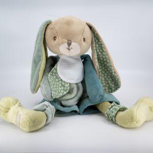 Doudou lapin vert Bukowski
