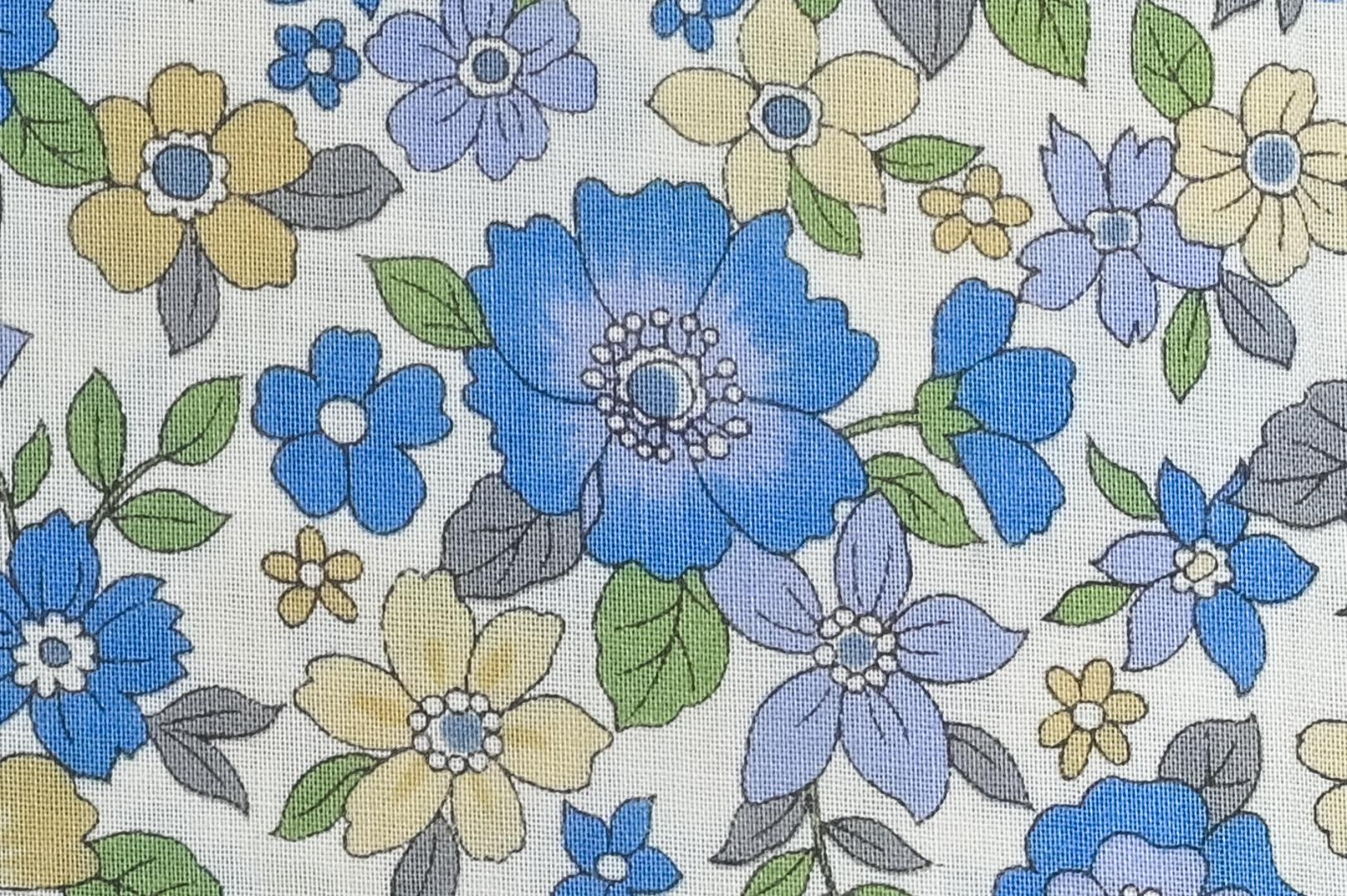 1 mètre de biais fleuri en coton