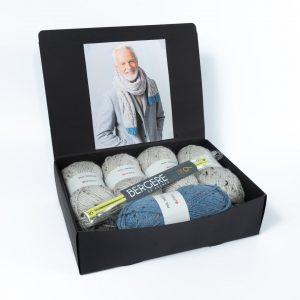 Kit tricot écharpe polaire