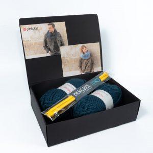 Kit tricot écharpe océan