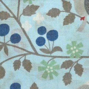 Coupon de tissu Fleuri Oiseau bleu Frou-Frou Paris