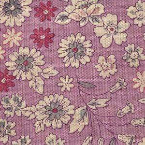 Coupon de tissu Fleuri rose Frou-Frou Paris