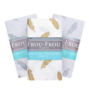 Coupon de tissu Plume Frou-Frou Paris 100% en coton