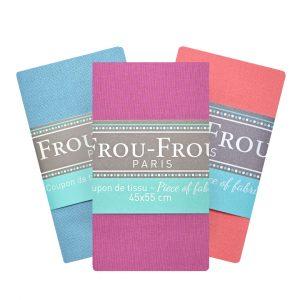 Coupon de tissu Uni. Frou-Frou Paris. 100% en coton