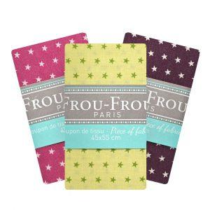 Coupon de tissu Étoile Frou-Frou Paris 100% en coton