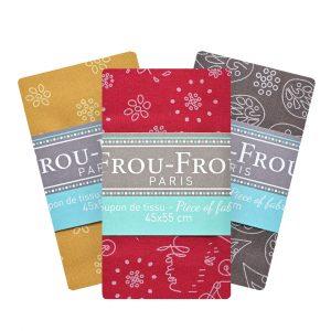 Coupon de tissu Graphique Frou-Frou Paris 100% en coton
