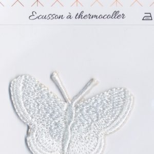 Écusson Thermocollant - GRAND PAPILLON BLANC