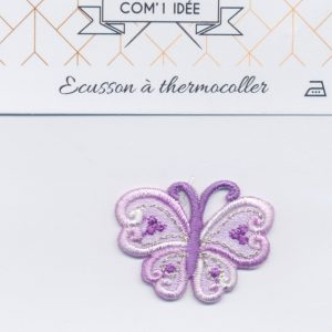 Écusson Thermocollant - PAPILLON VIOLET