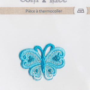 Écusson Thermocollant - PAPILLON BLEU