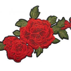 Écusson Thermocollant Géant Roses rouges
