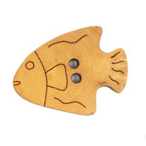 Un joli petit poisson pour un agréable bouton bois pyrogravé.