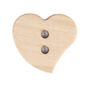 Bouton Bois forme Coeur