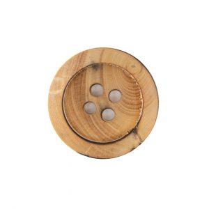 Bouton en bois naturel aspect brûlé. Idéal pour vos créations d'été.