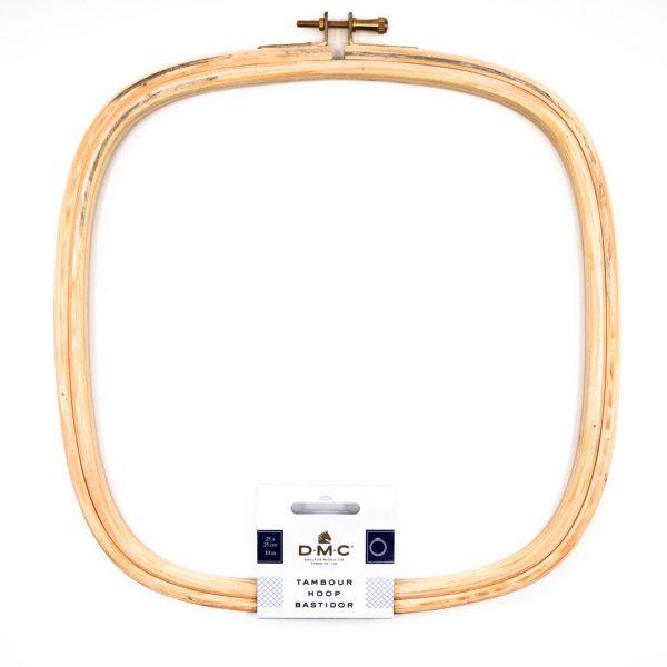 Tambour carré bois DMC 25 cm x 25 cm