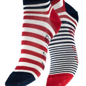 Socquettes Berthe aux grands pieds Rayures Asymétriques