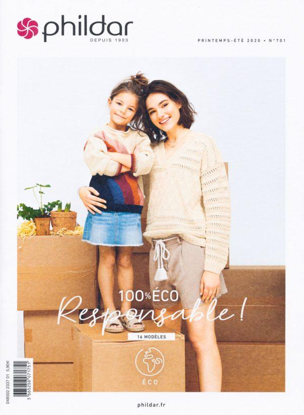 Livre Phildar 100% Eco Responsable - 16 modèles
