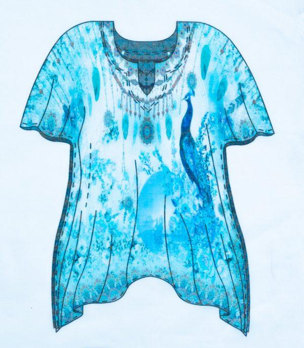 Kimono Bleu 100% Coton