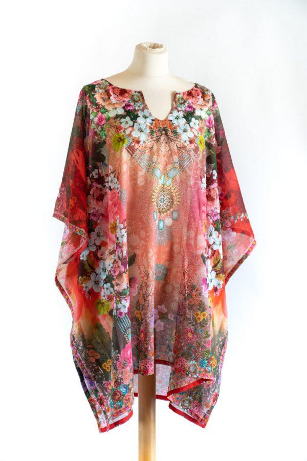 Kimono Rouge 100% Coton Oekotex