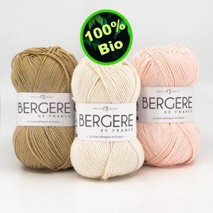 Nouveauté 100% Coton Bio Bergere de France